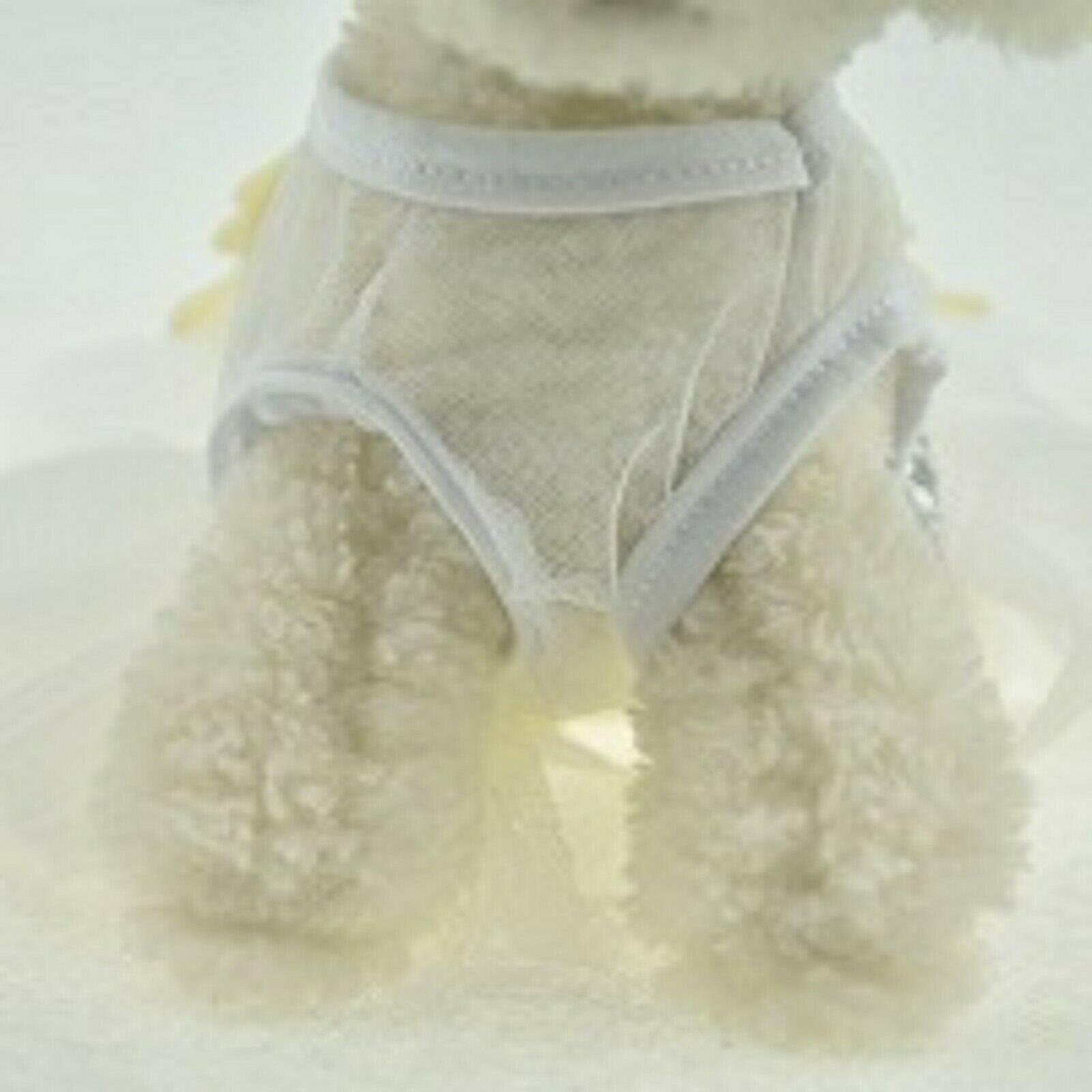 White Sequin Tutu Princess Dog Dress