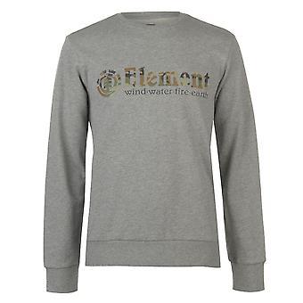 Element Herren Crew Sweatshirt Top Jumper Bluse Langarm