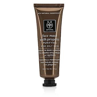 Apivita Face Mask With Propolis - Purifying (for Oily Skin) - 50ml/1.81oz