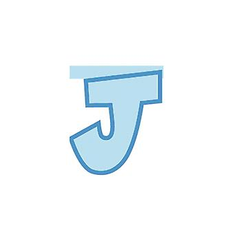 Linking Banner 20cm Baby Blue Letter - J Party Decoration