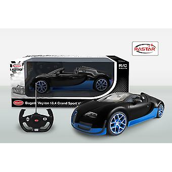 Rastar Official Licensed Bugatti Veyron 16.4 Grand Sport Vitesse 1/16 Blue Remote Control Car