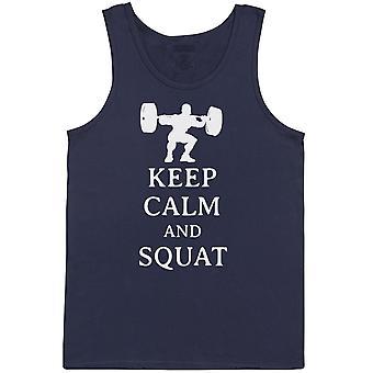 Keep Calm And Squat - Mens Vest