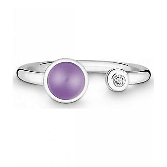 QUINN - Ring - Silber - Diamant - Amethyst - Wess. (H) - Weite 56 - 21191633