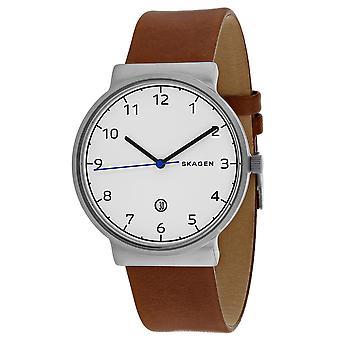Skagen Men's Ancher White Dial Uhr - SKW6433