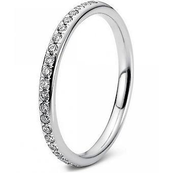 Anillo de diamantes - oro blanco 18K 750 - 0.21 qt.