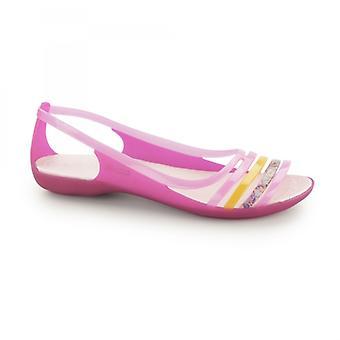 Crocs 202463 Isabella Flat Ladies Sandals Pink/coral