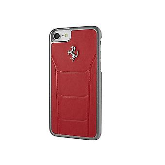 Case For iPhone 8 / 7 In True Red Leather