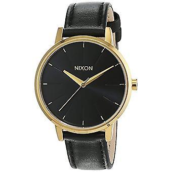 Nixon A108513-00-håndleddet watch for kvinner, skinn, farge: svart