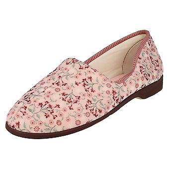 Ladies Lady Love Slip On Slippers Garden Print