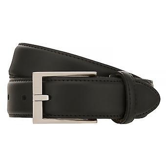 SAKLANI & FRIESE belts men's belts leather belt black 767
