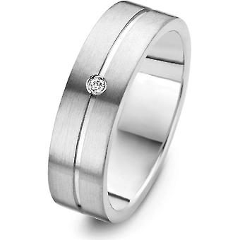 Dansk design-ring-Women-IJ140R1D-60-Bramming-Titanium-Diamonds-60