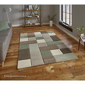 NORDIA Beige grønne tæppe