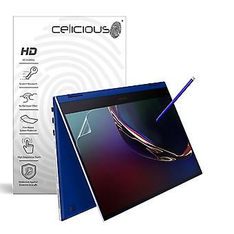 Celicious Vivid Invisible Glossy HD Screen Protector Film Compatible with Samsung Galaxy Book Flex 13 (2019) [Pack of 2]