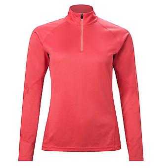 Berghaus Tech 2.0 Womens 1/4 Zip Long Sleeve Fitness T-Shirt Shirt Tee Pink