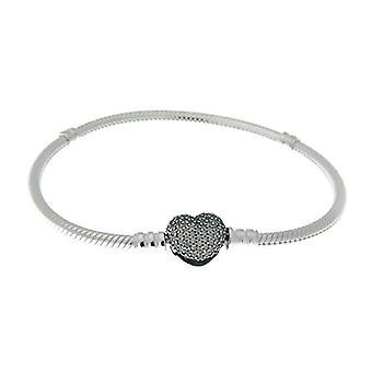 Pandora Silver Woman Braided Bracelet - 590727CZ-16