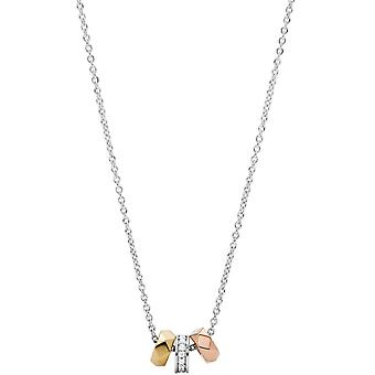 Fossil necklace and pendant JFS00472998 - STERLING SILVER Silver Dor Crystaltransparent Women