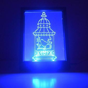 Single Bird Cage Colour Changing Remote Control LED Light Frame