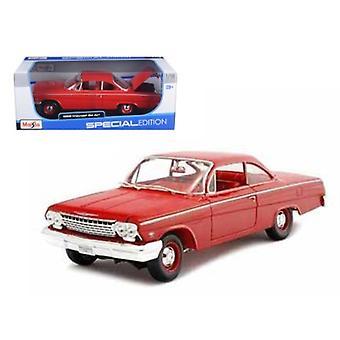 1962 Chevrolet Bel Air Red 1/18 Diecast Modelo Coche por Maisto