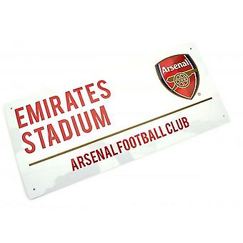 Arsenal FC Metal Text Street Sign