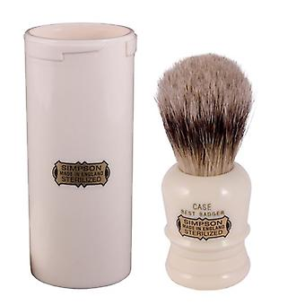 Simpsons Case Best Badger Hair Shaving Brush + Travel Tube