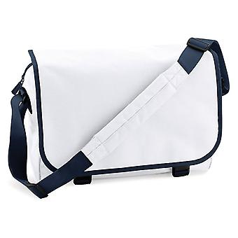Messenger Bag - vit / mörkblå