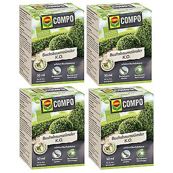 Sparset: 4 x COMPO boxwood knopper K.O., 50 ml