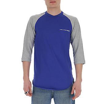 Comme Des Garçons Shirt S281202 Men's Blue/grey Cotton T-shirt