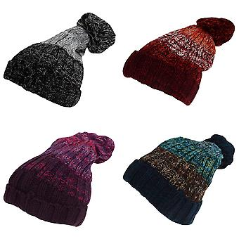Rock Jock Womens/Ladies Winter Hat With Pom Pom