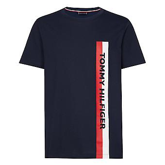 Tommy Hilfiger Cotton Jersey Logo Crew Neck T-shirt, pitch blue, klein