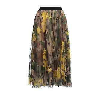 Ermanno Scervino Gn21stc371 Women's Multicolor Nylon Skirt