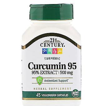 21St century curcumin 95, 500 mg, vegetarian capsules, 45 ea