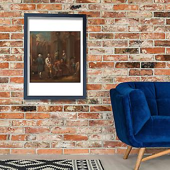 William Hogarth - Sign for a paviour Poster Print Giclee