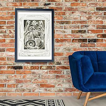 William Blake - Behemoth and Leviathan Poster Print Giclee