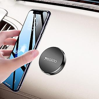 Yesido c38 mini round plate magnetic dashboard car phone holder for 4.0-7.0 inch smart phone for iphone 11 pro max for samsung s20 ultra xiaomi mi9