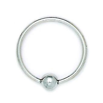 14k biele zlato 16 meradlo kruhové telo piercing šperky korálky prsteň opatrenia 17x16mm šperky Darčeky pre ženy
