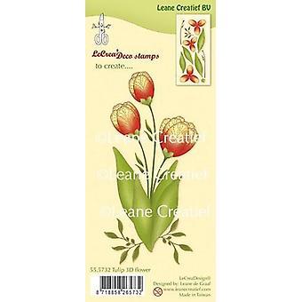 LeCrea - clear stamp 3D Flower Tulip 55.5732