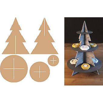 Pronty MDF 3D Etagere Christmas Tree 460.423.790 350x350x466mm