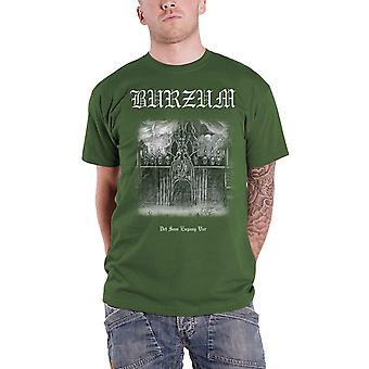 Burzum T Shirt Det Som Engang Band Logo Var new Official Mens Green