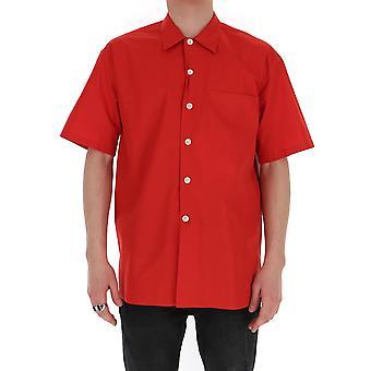 Alexander Mcqueen 608094qon666440 Men's Red Cotton Shirt