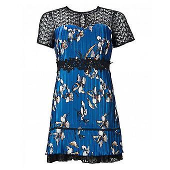 Foxiedox Carmella plisované květinové krajky Mini šaty