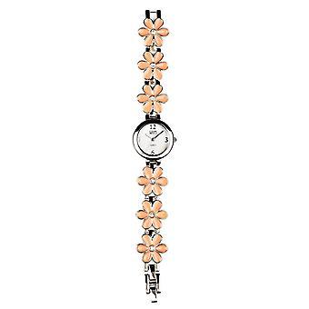 Eton Pink Enamel Flower link Bracelet Watch 3165L-PK