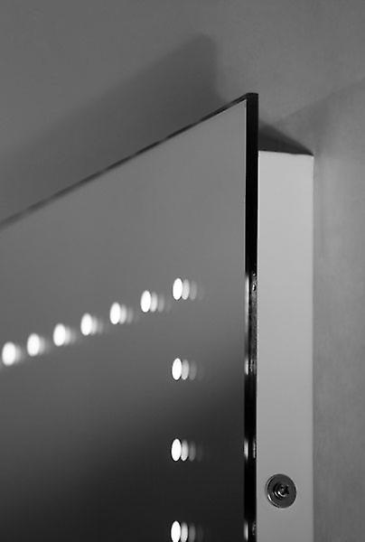 Miroir audio de salle de bains d'horloge ultraslim avec Bluetooth et capteur k192aud
