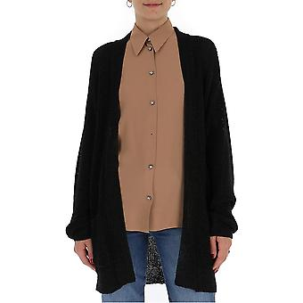 Laneus Cdd1004cc8nero Women's Black Cotton Cardigan
