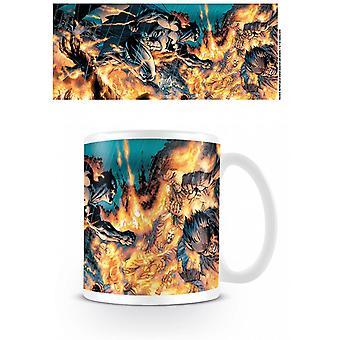 Batman Flames Mug