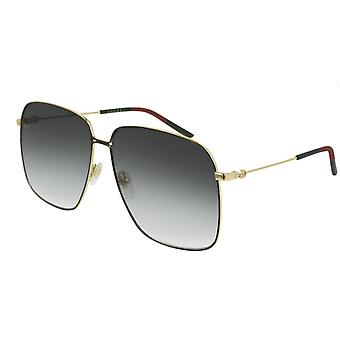 Gucci GG0394S 001 Black-Gold/Grey Gradient Sunglasses
