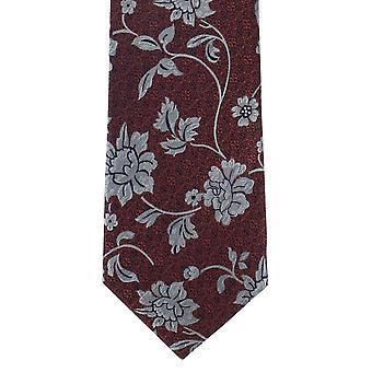 Michelsons Londyn barokowy kwiatowy Jedwabny krawat - szary