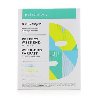 Patchology FlashMasque 5 Minute Sheet Mask - Perfect Weekend Sheet Mask Kit: (Hydrate, Illuminate, Milk Peel) 3pcs