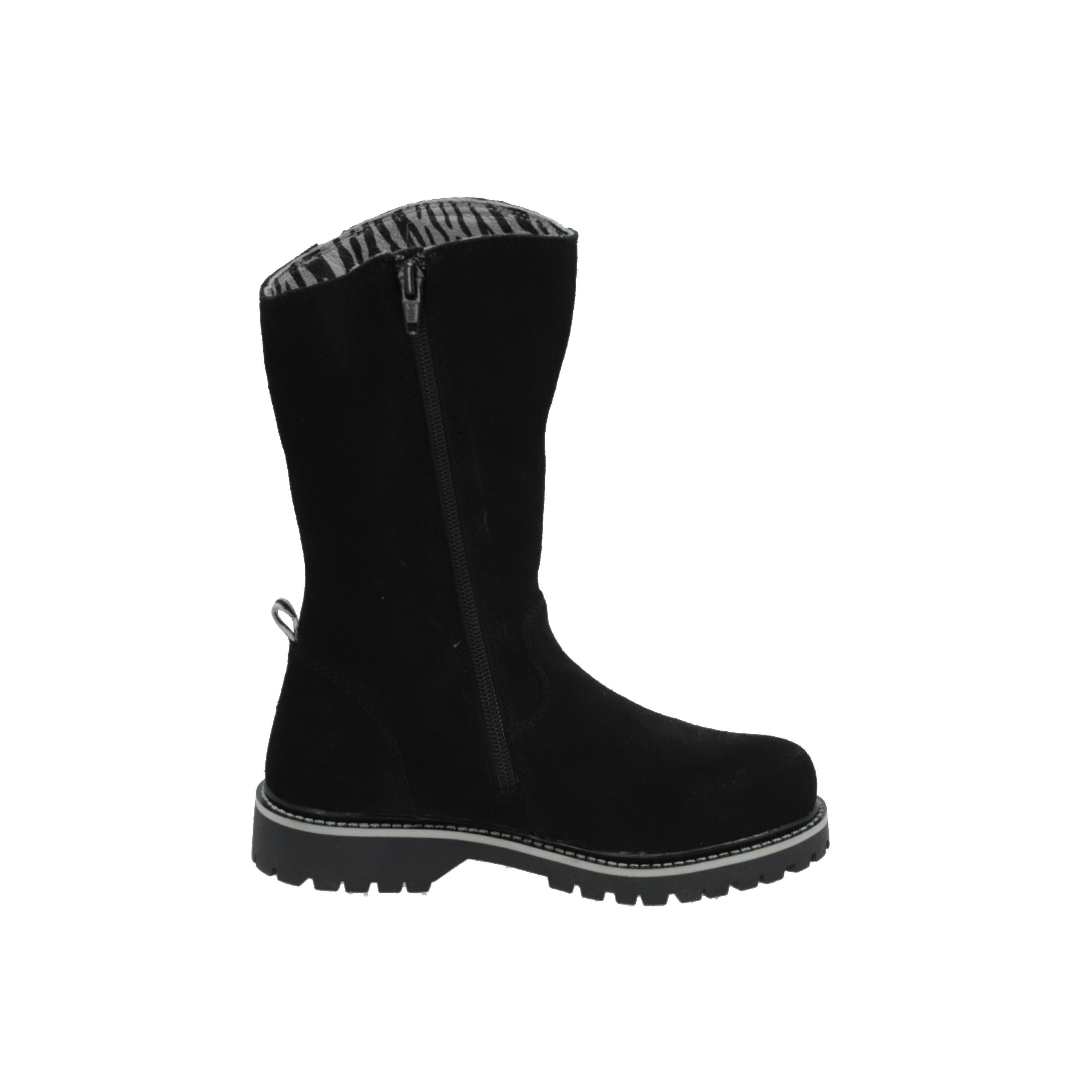 Zebra Schoenen Ayla Kids Girls Boots Black Lace-Up Boots Winter jje9lo