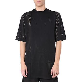 Rick Owens Cm20s000721508709 Men's Black Polyester T-shirt