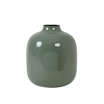 Florero ligero y vivo Deco 31.5x36.5cm Winona Olive Green
